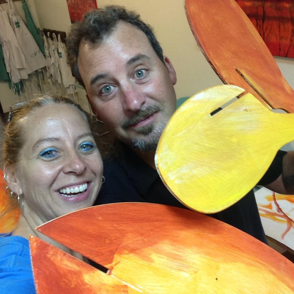 With Artist David Walega