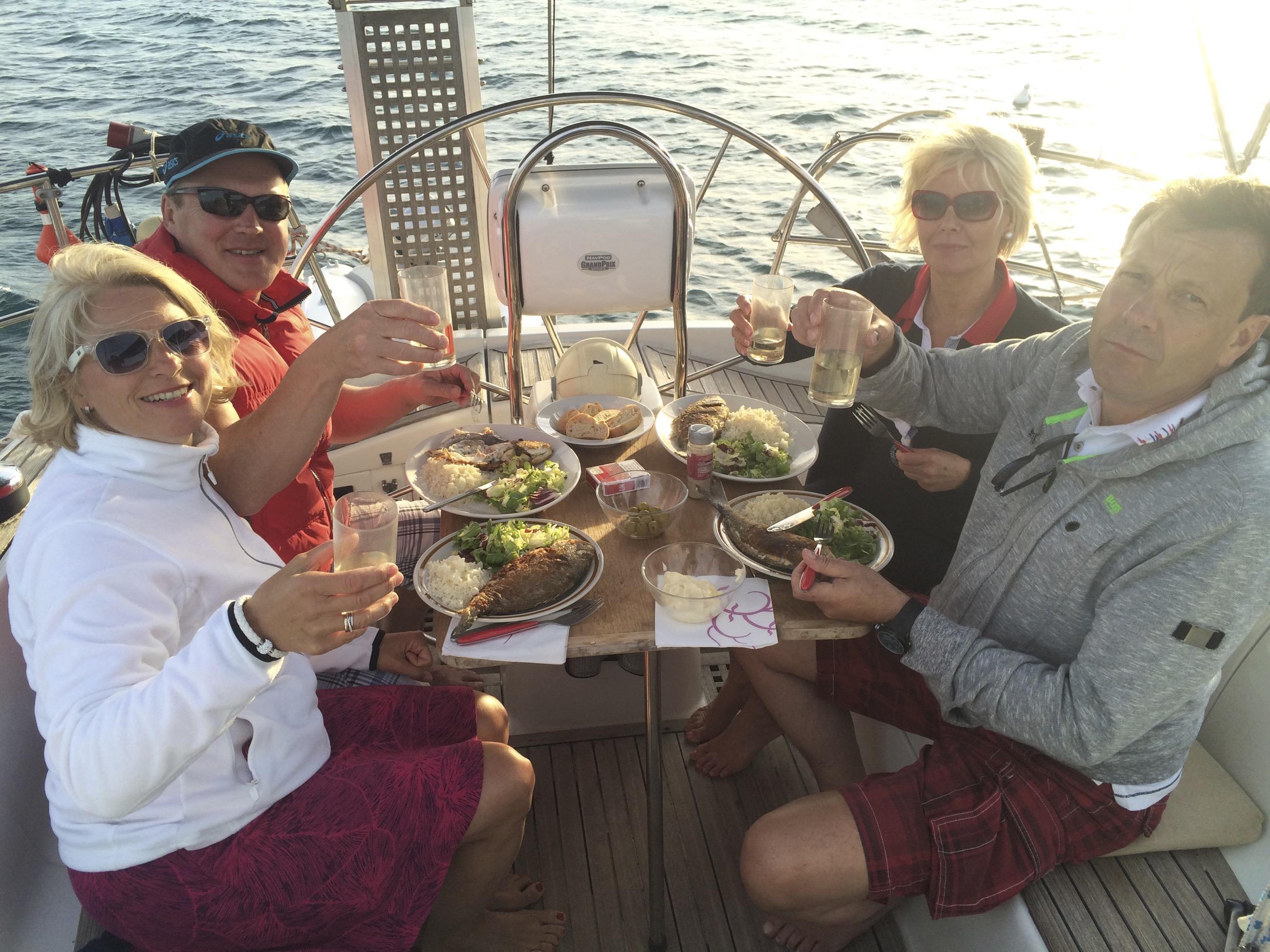 Dinner on Sailing Boat majorca