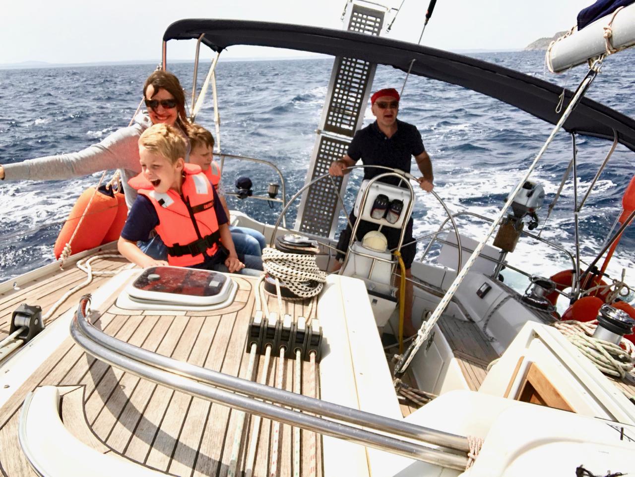 Segeln mit der Familie auf Mallorca
