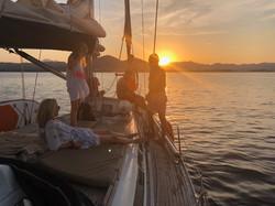 Sonnenutergang Mallorca Segeln