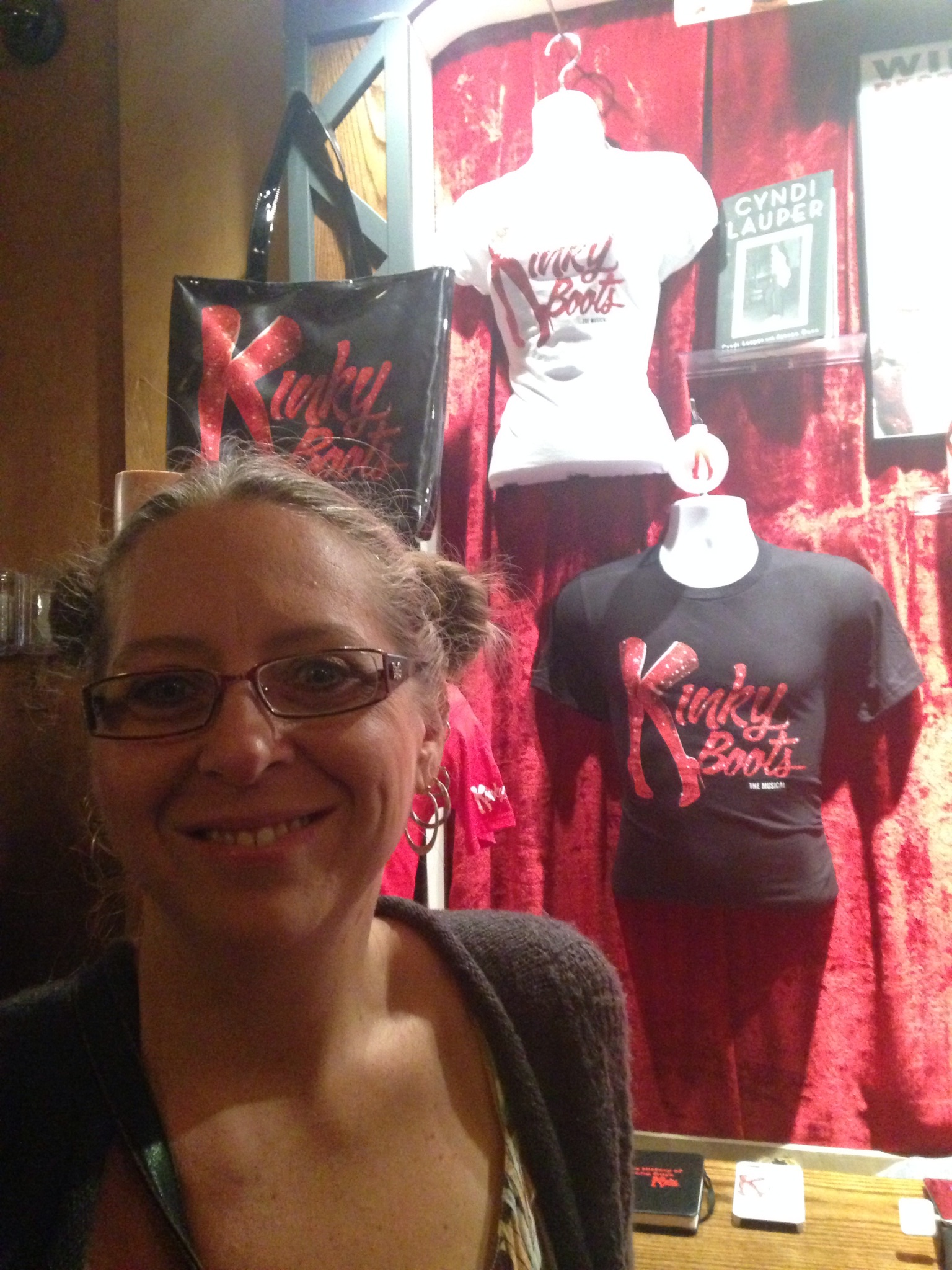 In NYC at Kinky Boots