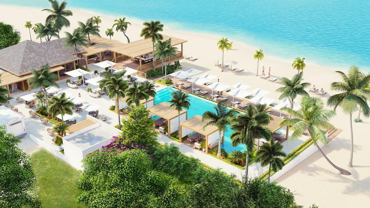 Projekt an der Strandpromenade und mit einem Privatstrand in Dominicus-Bayahibe. Es ist das einzige neue Projekt am Meer in Bayahibe - Dominicus.