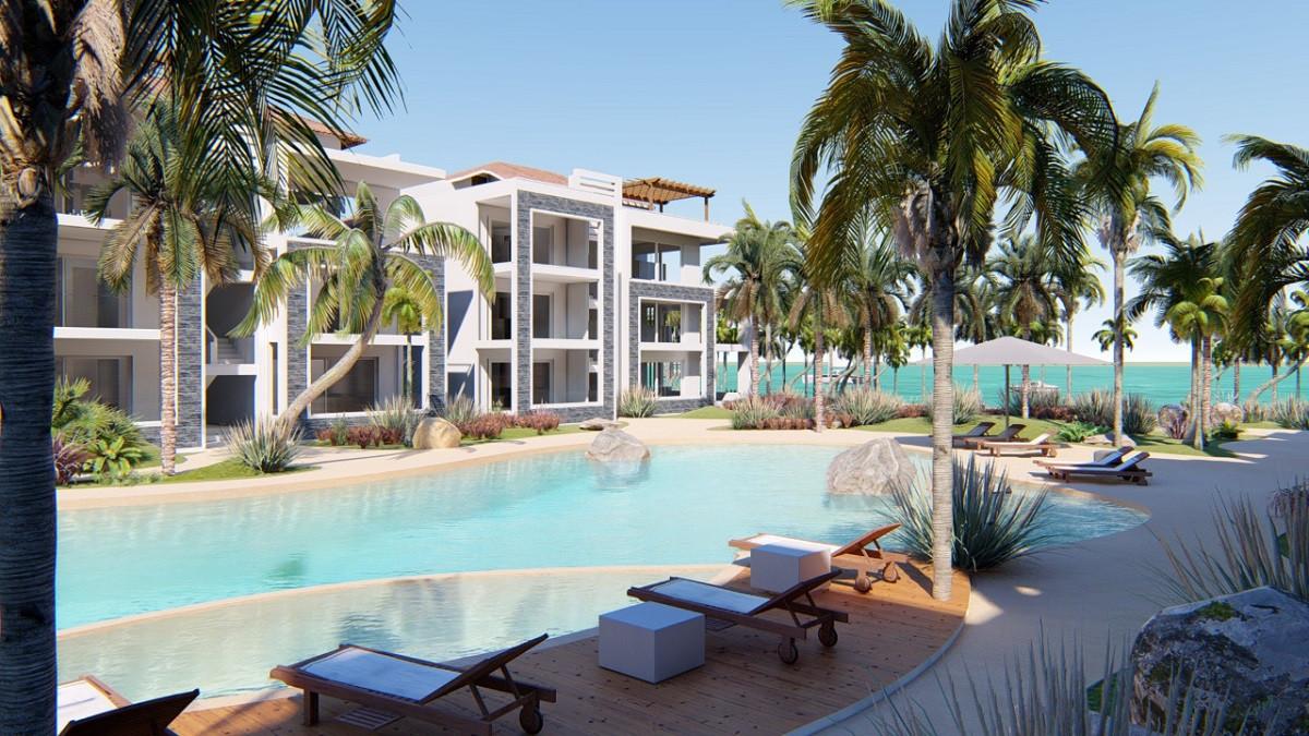 Projekt an der Strandpromenade und mit einem Privatstrand in Dominicus-Bayahibe.