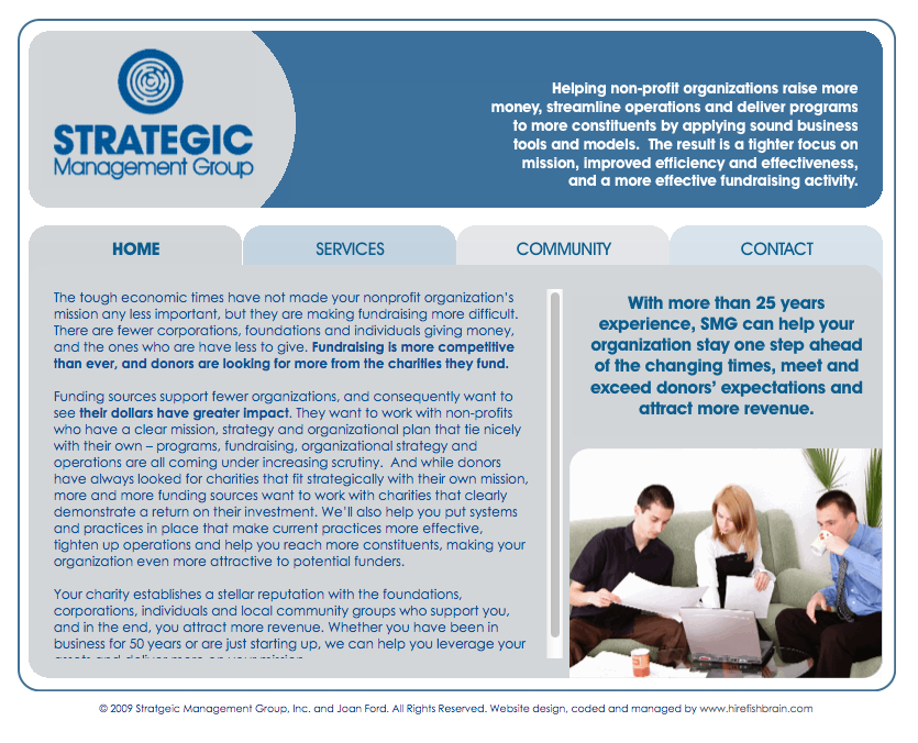 Strategic Managemen Services Website