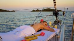 Massage auf Segelyacht