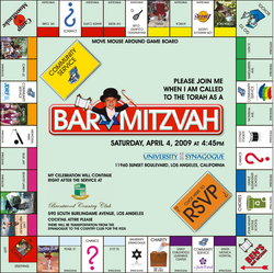 Bar Mitzvah Website Invite