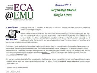 August Newsletter for Returning Students