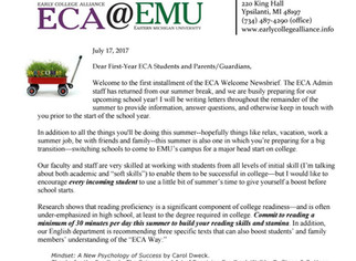 17-18 ECA Welcome Newsbrief #1