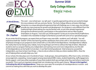 August Newsletter for Incoming Students