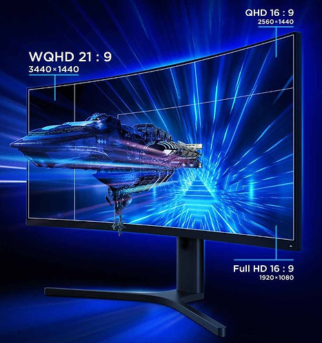 "Xiaomi 34"" Curved Gaming Monitor 144Hz Free-Sync WQHD"
