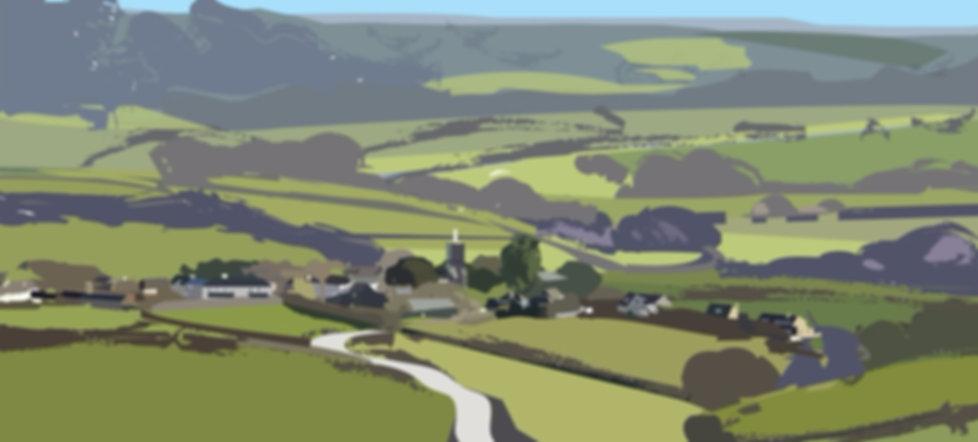 Broadhempston Village, Devon