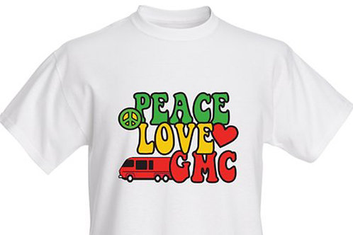 Peace, Love, GMC T-shirt Adult