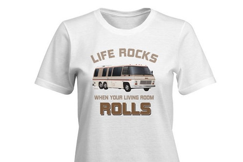 """Life Rocks"" T-shirt Ladies"