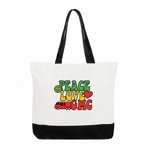 Peace, Love, GMC Tote Bag