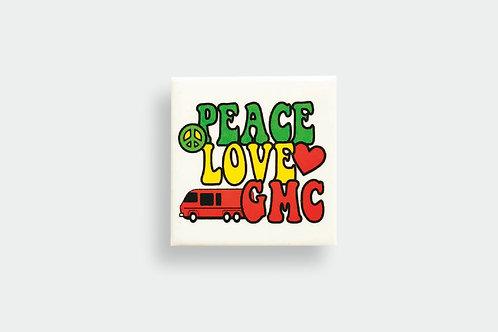 Peace, Love, GMC Button