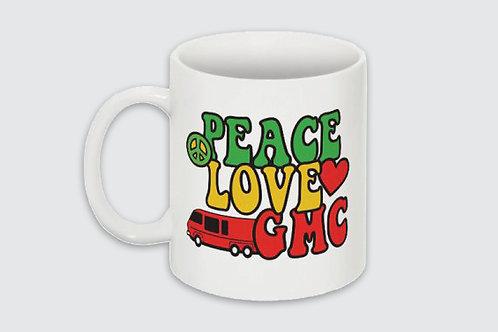 Peace, Love, GMC Mug