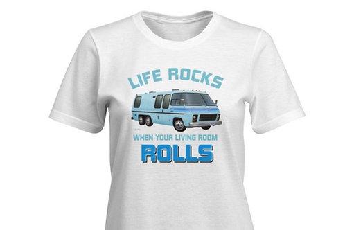 """""""Life Rocks"""" Glacier T-shirt Ladies"""