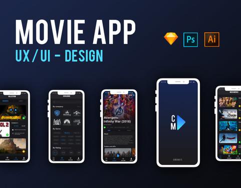 CineMate | Movie app UX/UI Design
