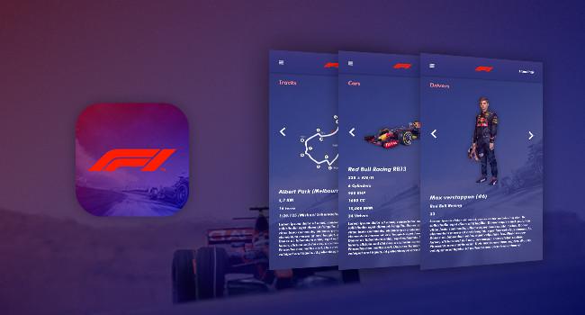 Formula 1   app UX/UI Design