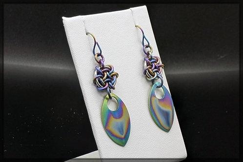 Titanium Hoodoo Hex Earrings