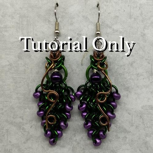 PDF - Grape Vine Earrings