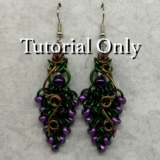 PDF - Grape Vine Earrings
