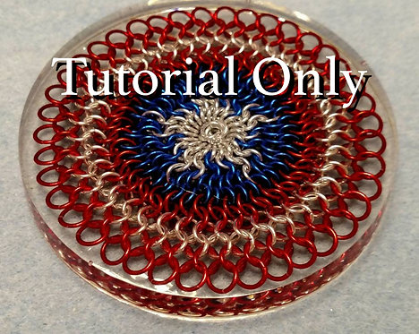 PDF - Captain America Resin Encased Chainmaille Coaster