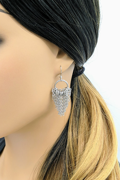 Tapered Fringe Earrings