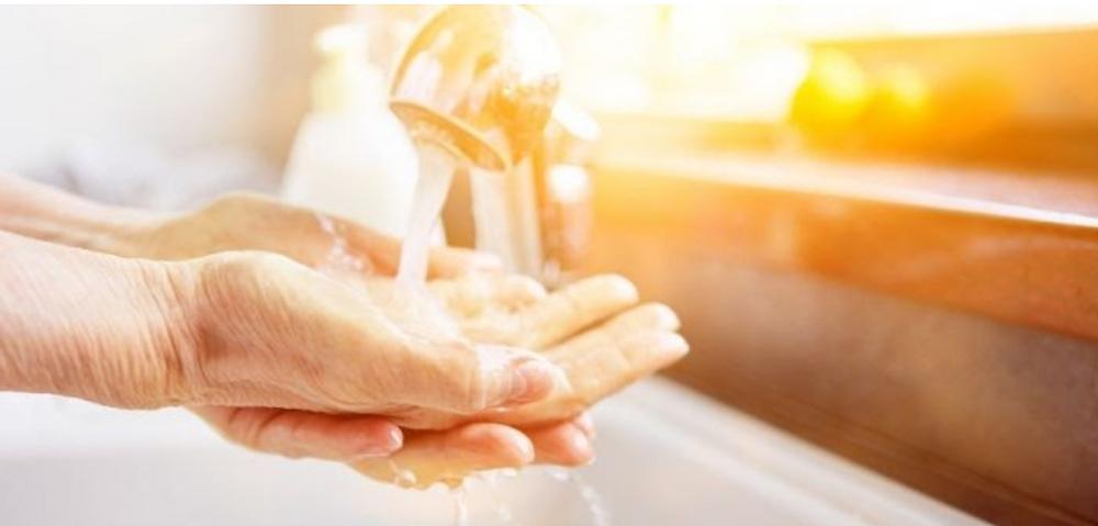 Washing Hands at Angsana Old Folks Home and Nursing Home