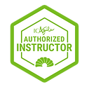 Authorized Instructor green with white i