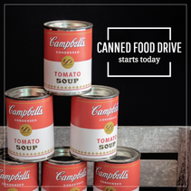 Canned food drive template
