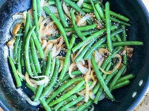 Ginger Green Beans and Onions