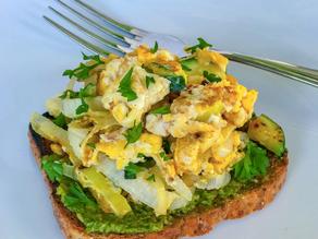 Pesto and Egg Scramble