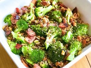 Broccoli, Bacon & Walnut Salad