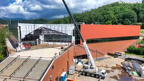 Aerial Drone Construction Photography - Western Carolina University 2 - Asheville Drone Ph
