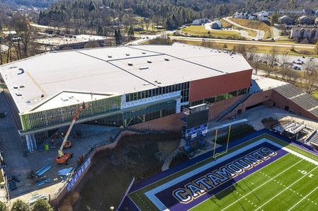 Aerial photograph of construction at WCU
