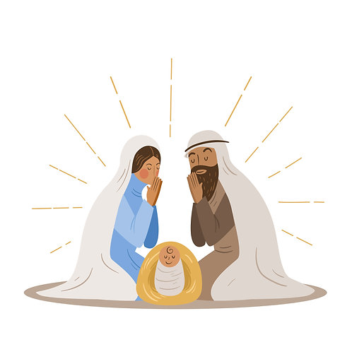 Vector Chúa Sinh Ra Đời - Vector Công Giáo