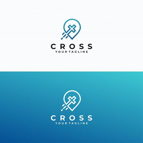 Logo Cross Blue