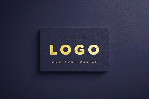 Logo mockup gold