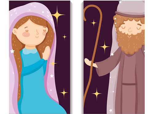 Đức Mẹ và Thánh Giuse đêm noel