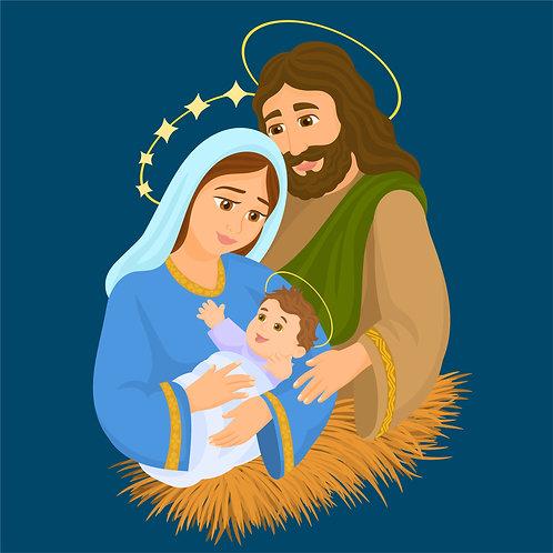 Đức mẹ hạ sinh Chúa Giêsu - Vector Đồ Hoạ Công Giáo