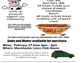 Manchester Lions | Chili or Beef Stew Drive Thru | February 27, 2021
