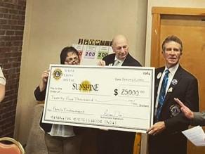 Maine Lions Donate $25,000 to Camp Sunshine