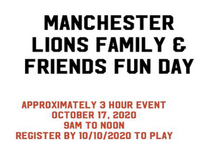 Family & Friends Fun Day   October 17, 2020