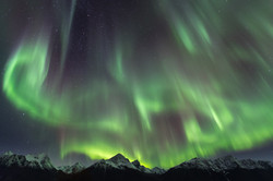 aurore boréale à Spaknes