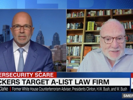 """Hackers demand ransom from A-list law firm: Richard Clarke on Sirius XM's and CNN's """"Smerconish"""""""