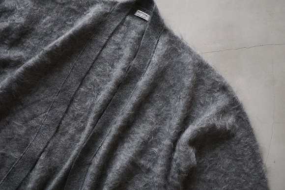 MAATEE&SONS  cashmere shaggy cardigan (light grey)