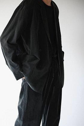 WIRROW  cupro cotton double jacket (black)