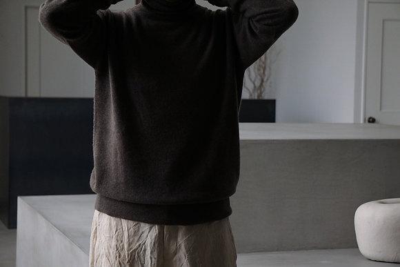 MITTAN  カシミヤタートルセーター (茶,薄茶,薄灰)