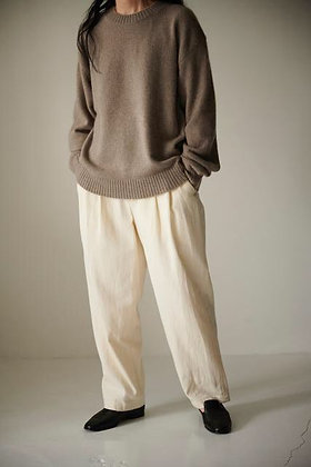 WIRROW  Cashmere sable knit pullover (mocha)